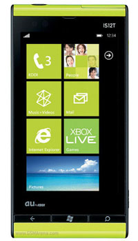 Image of Toshiba Mobiles Windows Phone IS12T Mobile