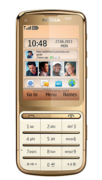 Image of Nokia C3 01 Gold Edition Mobile
