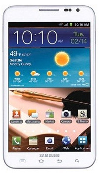 Image of Samsung Galaxy Note 2 Mobile