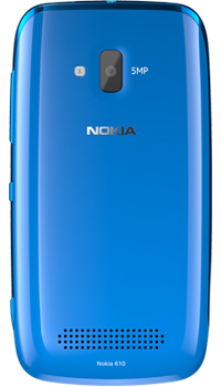 Nokia Lumia 610 Back Side View