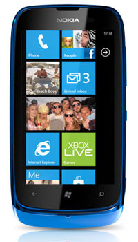 Nokia Lumia 610 Front Side View