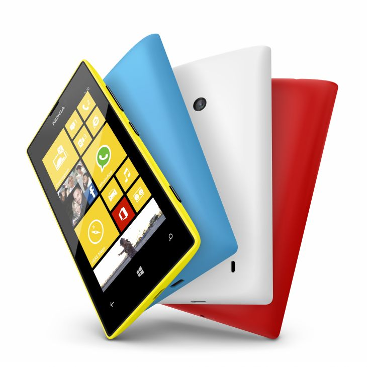 Nokia lumia 520 Yellow Cyan White and Red colors