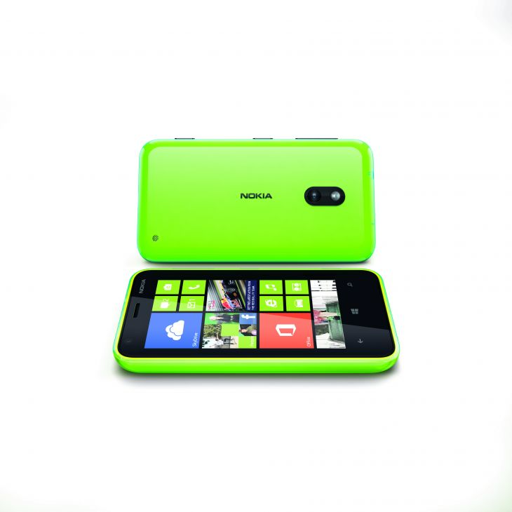 Nokia lumia 620 Lime green front and back Side View