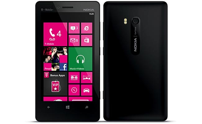 Nokia lumia 810 front and back side view