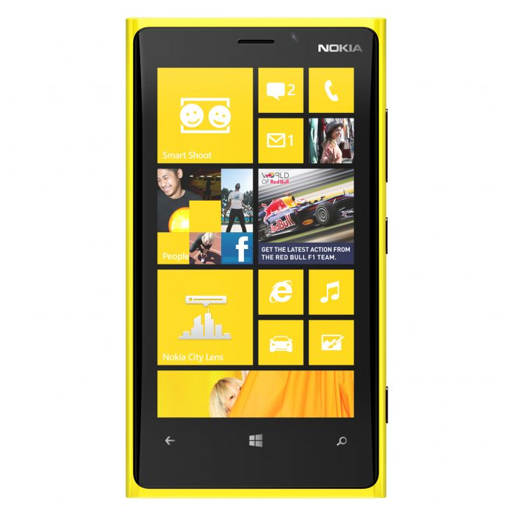 Nokia lumia 920 Yellow Front side view