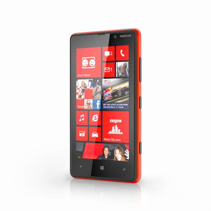 Nokia Lumia 820 Red Front side View