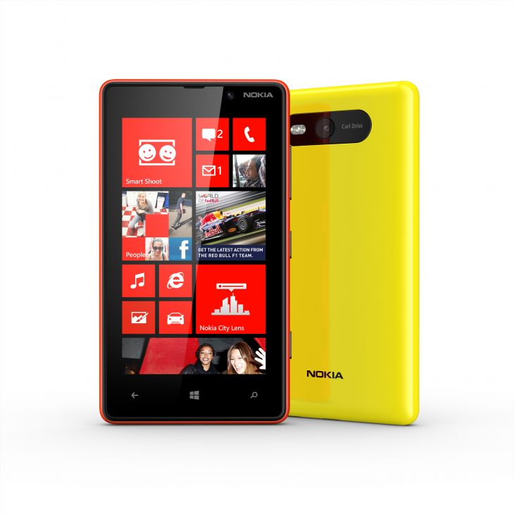 Nokia Lumia 820 Red and Yellow colors