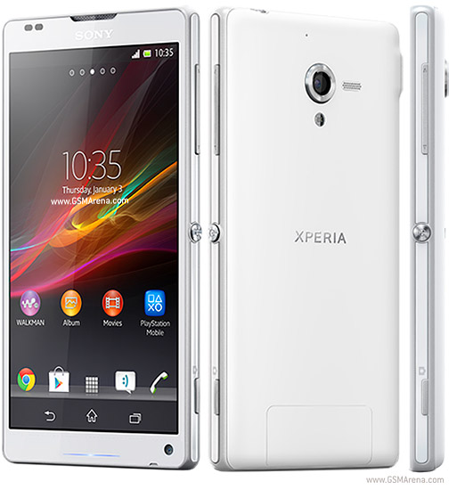 Sony Xperia ZL White Color Front and Right Side View