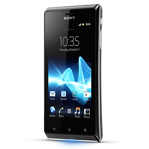 Sony Xperia J Front Side Black Color