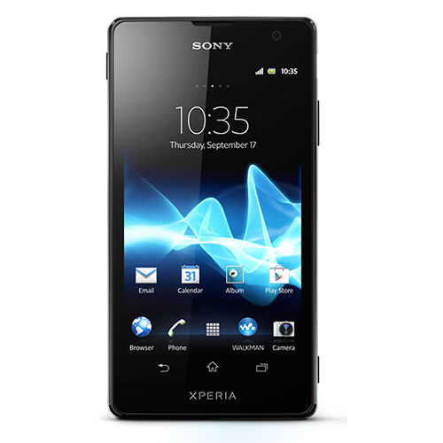 Sony Xperia Tx Black Color Front View