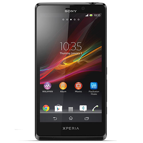 Sony Xperia T Front Side Black Color