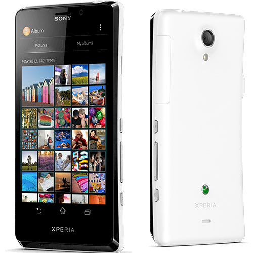 Sony Xperia T Front Side White Color