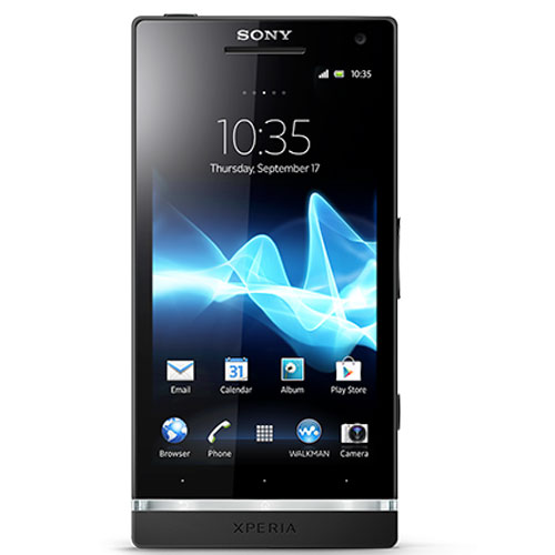 Sony Xperia SL Black Color Front Side View